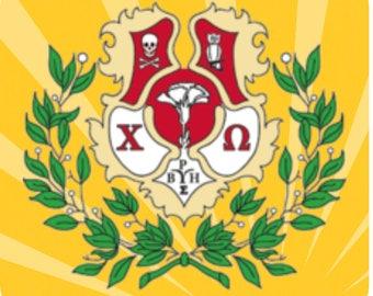 Chi Omega Crest Coasters
