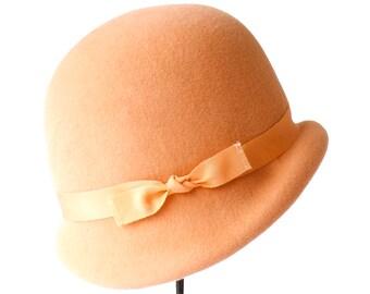 Women's Cloche Hat 1920s Cloche Hat Flapper Hat Spring Accessory Gift For Her Felt Cloche Women's Hat Spring Fashion Custom Hat Great Gatsby
