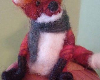 Farkas the Fox Felted Wool Figurine/Ornament