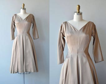 Private Invitation dress | vintage 1950s dress | 50s party dress