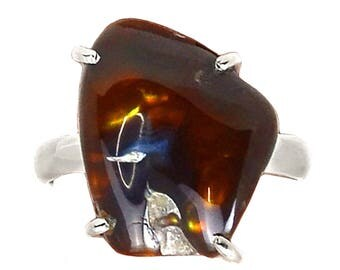 Authentic Mexican Fire Agate Ring Size 8