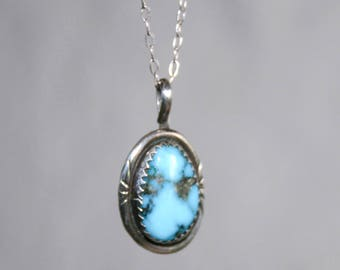 Sterling Silver Southwestern Turquoise Necklace