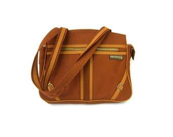 1970s Retro Tote Brown Fabric KANGAROO Handbag purse Retro Vintage Shoulder Bag Hipster Market Bag Everyday Purse