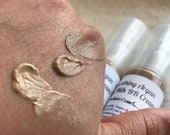 samples Goat Milk BB cream   ARGAN oil   Hyaluronic Acid   cream foundation tinted moisturizer   3ml face tint lotion small batch skin care