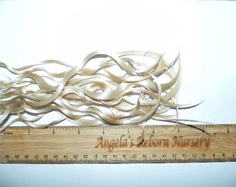 0.50 oz. Pale Golden Blonde Premium Reborn Doll Hair