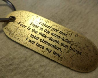 Dune Inspired Keychain Litany against Fear