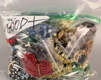 Gallon 5 lb. Bag Lot of Good Wearable Sellable Costume Jewelry