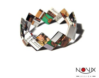 * ORIGAMI bracelet * Comics comic book comic #25