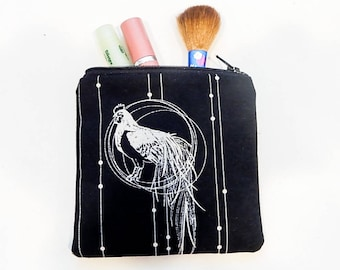 Rooster Gift for Women/ Bestfriend Gift/ Sister Birthday Gift/ Gift for Her/ Make Up Bag/ Valentines Day Gift/ Gift for Mom/ Bridesmaid Gift