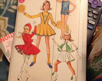 1968 Simplicity Girls Cheer 4 Styles. # 7937 Size 12, Breast 30