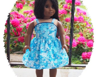 18 inch Doll Clothes -  will fit American Girl Doll -  Sundress 1950's Style - Summer