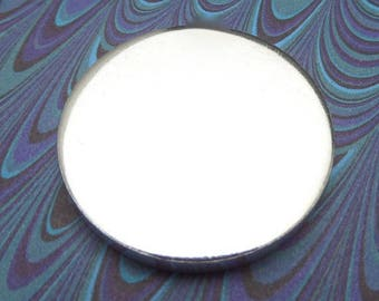 """50 Polished 1.25 Inch Discs 8 Gauge Pure Food Safe Metal Almost 1/4"""" Thick - 50 Discs NO HOLE"""