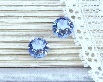 Light Blue Earrings Blue Crystal Studs Blue Stud Earrings Crystal Stud Earrings Surgical Steel Studs