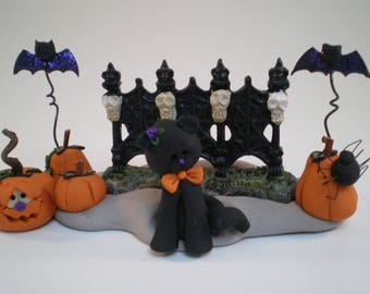 Polymer Clay Halloween Decoration by Helen's Clay Art