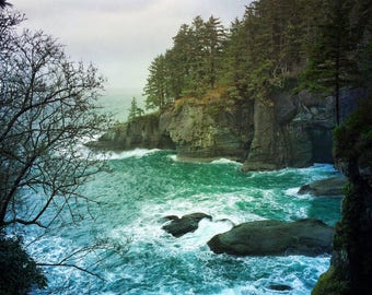 Sea caves, photography, nature, Pacific Northwest