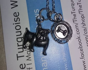 Silver DOG Charm Necklace
