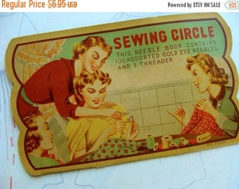 ON SALE Gorgeous Antique Needle Book great for Sewing Room 116