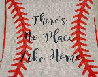 Reversible Baseball Flag, personalized flag, baseball player, baseball flag, no place like home