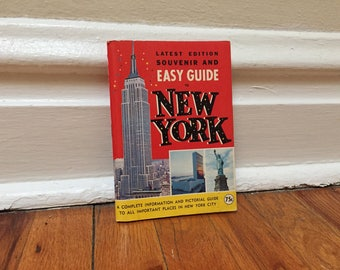 New York City Guidebook 1970 Travel Vintage Book Red Paperback Library Souvenir and Easy Guide NYC
