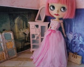 RESERVED -BLYTHE DRESS - Full Length Pretty in Pink Silk and Lace Princess Gown