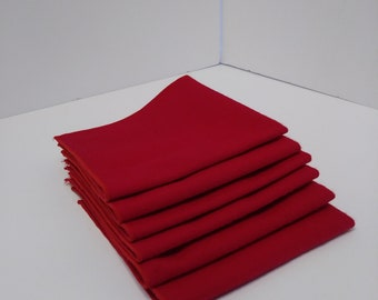 Cloth Napkins Red Flannel Reversible