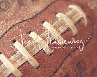 Vintage Football Sports Photography Print, macro, man cave, boys room, nursery, still life