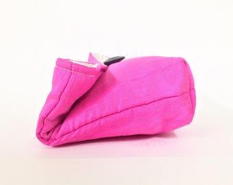 Bridesmaid Clutch, Ready to Ship Bridesmaid Gift Idea, Hot Pink Clutch Purse, Bubblegum Pink Bridesmaid Gift, Wedding Party, Neon Pink