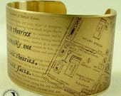 RESERVED for Estelle - Scandal in Bohemia Literary Brass Cuff