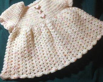 Heirloom Quality Crocheted Baby Dress