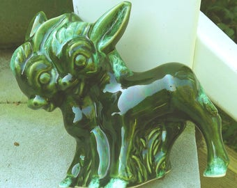 1950s two little donkeys planter - charity for animals