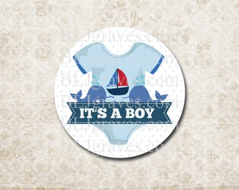 Baby Shower Stickers It's A Boy Stickers Labels Party Favor Treat Bag Sticker SB023