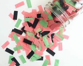 WATERMELON SPRINKLE / tissue paper confetti / cake table / party confetti / confetti toss / summer decorations / pink decoration  /