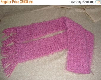 Christmas in July Handmade Crochet  Pink Scarf