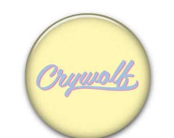 "Crywolf Yellow 1"" Button"