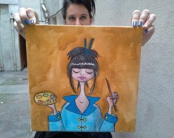 Tableau aux Crayons Aquarellables Sasha La Peintre