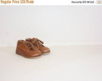 SALE // Vintage Brown Toddler Shoes