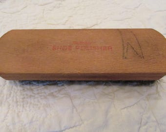 Vintage Horsehair Shoe Shine Brush or Polisher by National