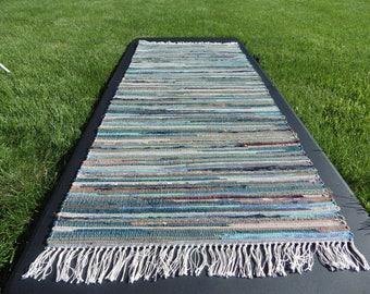 "Loom Crafted Rag Rug Dark Multi 25"" x 62"""