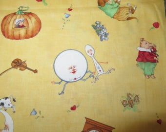 Nursery Rhyme Print fabric - Patches & Rhymes by Wecker-Frisch ssi fabrics by half yard