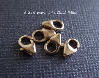 8.2 x 5 mm Lobster Clasps, Trigger Clasps Lobster Claw Clasps Bulk / 5-100 pcs, wholesale jewelry supply cs solo fc.m fc.s
