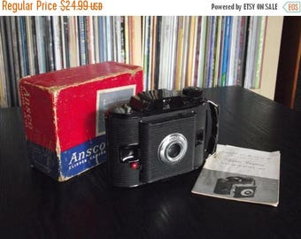 SALE 25% OFF Vintage 1950's Ansco PD-16 Clipper Camera with Box & Instructions