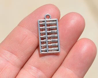 1  Silver Abacus Charm SC2675