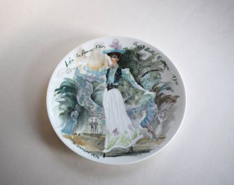 Vintage Collector Plate, LEA the Woman Flower of the Beautiful Era, French