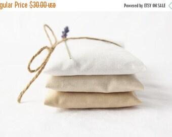 SALE White Ombre Lavender Sachets - Modern Minimalist Decor - Scented Drawer Sachets
