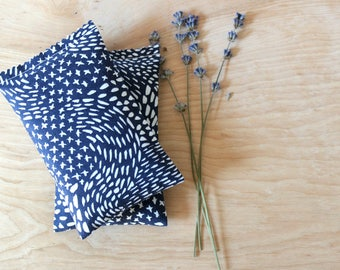 Lavender Scented Drawer Sachets, Navy Blue & White Starry Night, Herbal Sleep Sachets