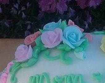 Royal Icing Roses - Royal Icing Flowers - Edible Sugar Flowers - Cake Toppers