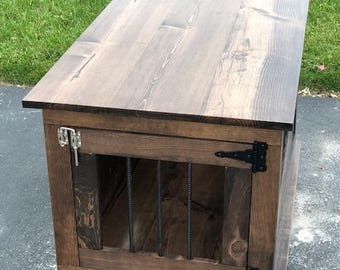end table crate small dog