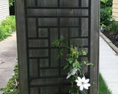 Single Panel Chinese Pinwheel Motif Aluminum Garden Trellis  Kit