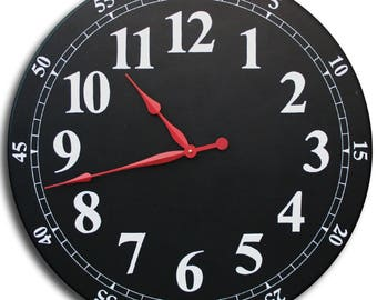 BACK TO SCHOOL House Clock-30in Large Wall Clock-Classroom Supplies-Jennifer Braddy