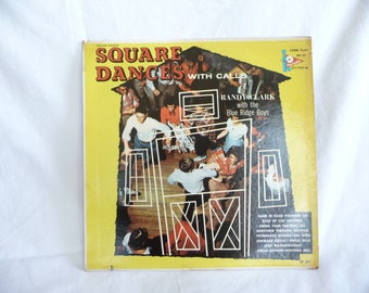 Square Dances with Calls, Randy Clark, Blue Ridge Boys, music, Vintage Record Album, music LP, Collectible Album, Parade Records, Dancing
